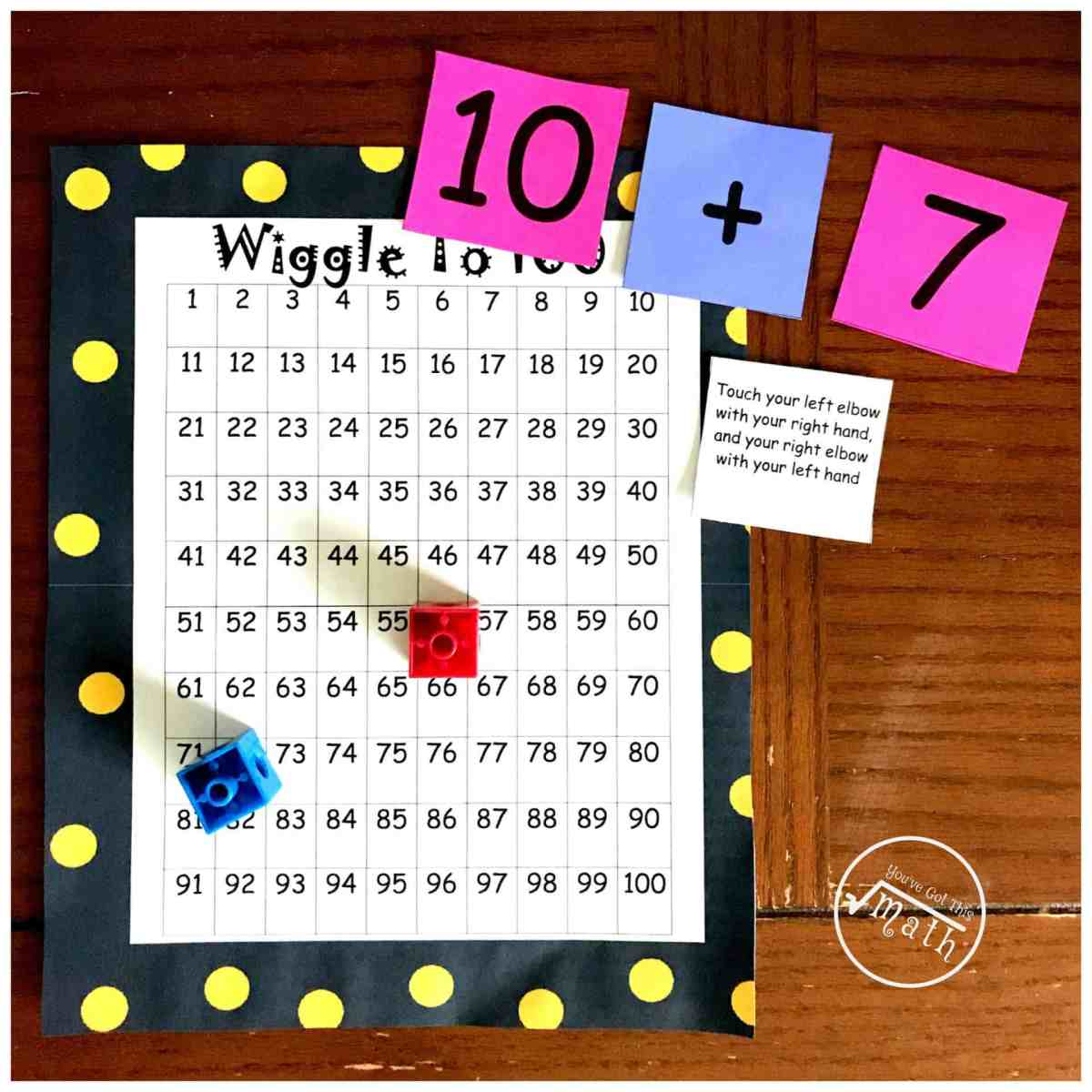 Grab a Free Adding and Subtracting Movement Game - Wiggle to 100